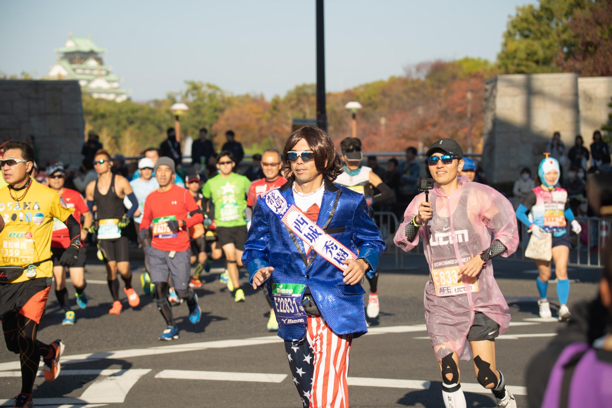 2018大阪マラソンで見た!おもしろコスプレランナーたち